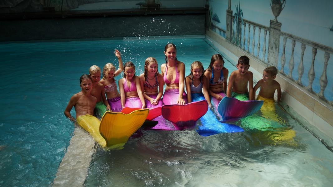 Kinder Meerjungfrauen